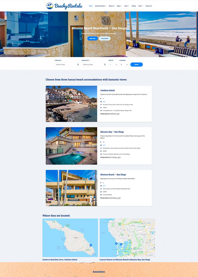 www.BeachyRentals.com Website